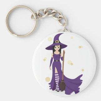 Hexe und Besen Keychain Schlüsselanhänger