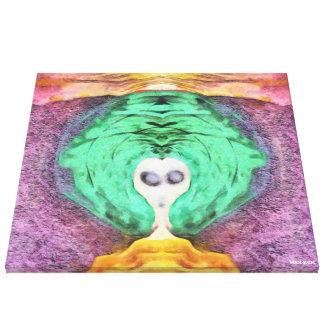 Hexe von Farben Leinwanddruck