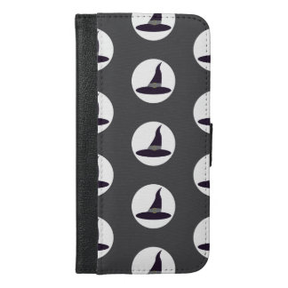 Hexehüte auf grauem Hintergrund Halloween iPhone 6/6s Plus Geldbeutel Hülle