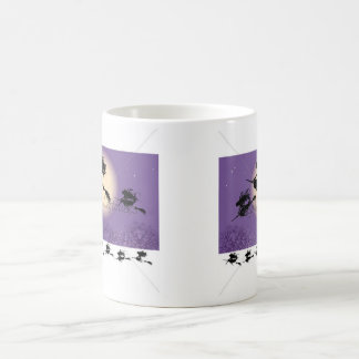 Hexen auf einem Besen Kaffeetasse