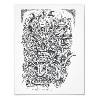 Hexen und Teufel, durch Brian Benson Fotodruck