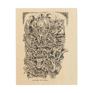 Hexen und Teufel, durch Brian Benson Holzwanddeko