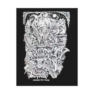 Hexen und Teufel, durch Brian Benson. Leinwanddruck