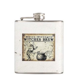 Hexenbrew-Vintager Art-Getränk-Aufkleber Flachmann