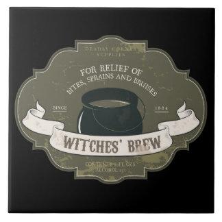 Hexenbrew-Vintager Halloween-Aufkleber Keramikfliese