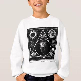 Hexerei: Ein Dreieck der Kunst: Schädel Sweatshirt
