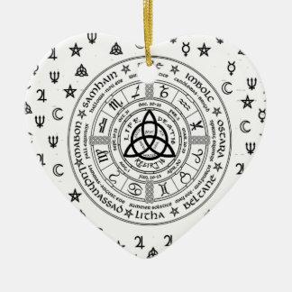 Hexereisymbole Keramik Herz-Ornament