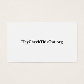 HeyCheckThisOut.org Visitenkarte