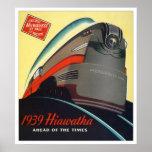 Hiawatha Lokomotivplakat 1939 Plakatdruck