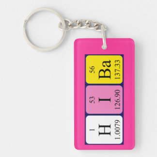 Hiba Periodensystem-Namenschlüsselring Schlüsselanhänger