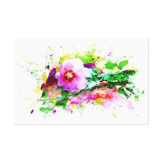 Hibiscus Flower, Hibiskus Blume, Watercolor Leinwanddruck