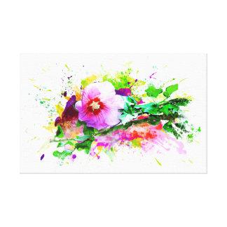 Hibiscus, Hibiskus Flower - Watercolor Splash Leinwanddruck