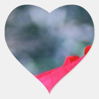 Hibiskus 4 Herz-Aufkleber