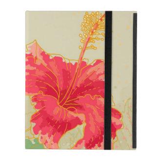 Hibiskus-Blume auf getontem Hintergrund Hülle Fürs iPad