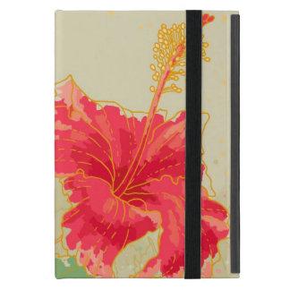 Hibiskus-Blume auf getontem Hintergrund iPad Mini Etuis