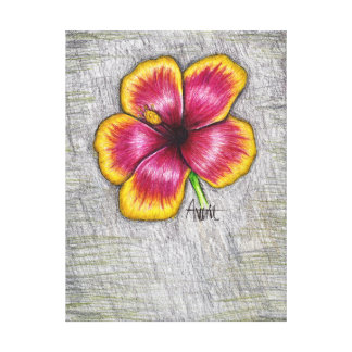 Hibiskus-Blume Leinwanddruck