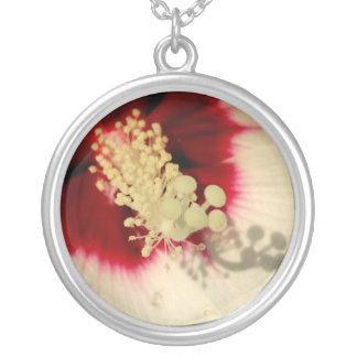 Hibiskus-Blumen-großes Silber überzogen ringsum Versilberte Kette