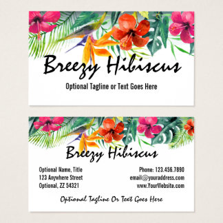 Hibiskus-Blumen-tropisches Paradies-hawaiisches Visitenkarte