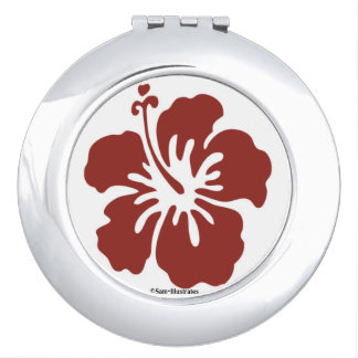 Hibiskus-Blumen-Vertrags-Spiegel Schminkspiegel
