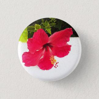 Hibiskus-Blumenknopf Runder Button 2,5 Cm
