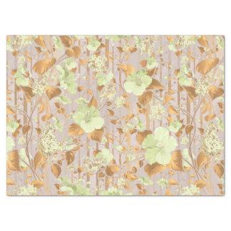 Hibiskus-Blumenminzen-Grünkupfer mit Blumen Seidenpapier