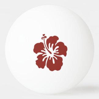 Hibiskus-Blumetropischer Ping Pong Ball Tischtennis Ball