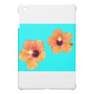 Hibiskus orange cyan-blaues BG die MUSEUM Zazzle G iPad Mini Hülle