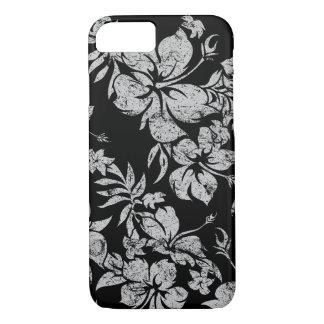 Hibiskus Pareau hawaiisches Blumenschwarzes iPhone 8/7 Hülle