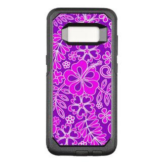 Hibiskus-rosa und lila Muster OtterBox Commuter Samsung Galaxy S8 Hülle
