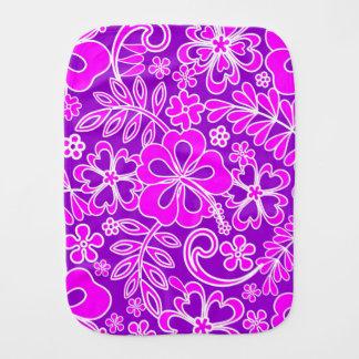 Hibiskus-rosa und lila Muster Spucktuch