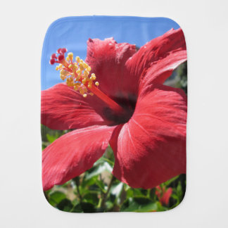 Hibiskus-Rot-Blume Spucktuch