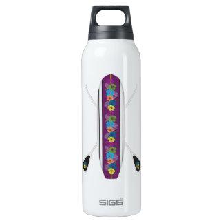 Hibiskus Stand-Oben Paddel-Brett SUP Isolierte Flasche