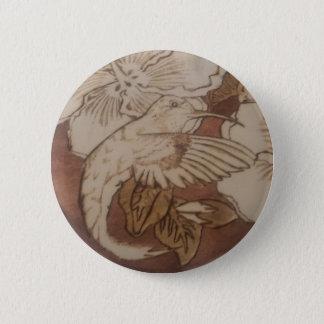 Hibiskus-Summenvogel Runder Button 5,7 Cm
