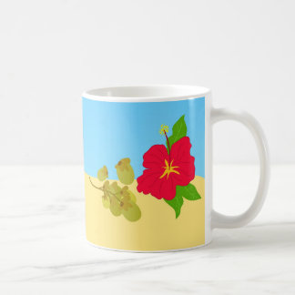 Hibiskus und Sun Kaffeetasse