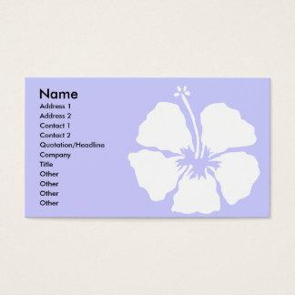 Hibiskusartaloha Blume Visitenkarte