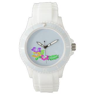 Hibiskusblumenentwurfs-Modeuhr Armbanduhr