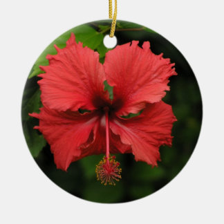 Hibiskusverzierung Keramik Ornament