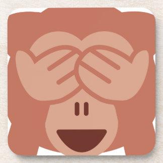 Hide and seek Emoji Monkey Getränkeuntersetzer