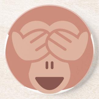 Hide and seek Emoji Monkey Untersetzer