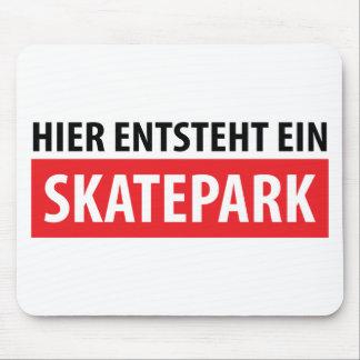 Hier entsteht ein Skatepark Ikone Mousepad