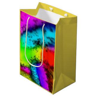"""""""Hier Farb"""" ist mittlere glatte kundenspezifische Mittlere Geschenktüte"""