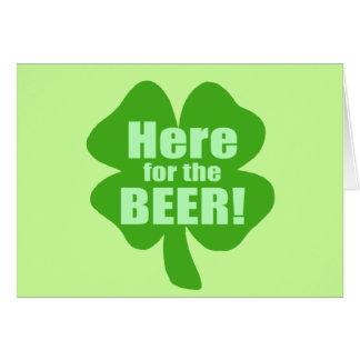Hier für das Bier Karte