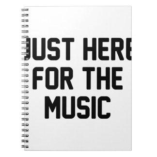 Hier für die Musik Notizblock
