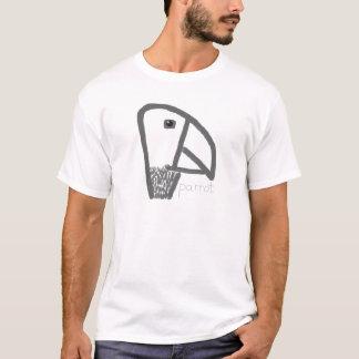 Hier Zen-Papageien-T - Shirt