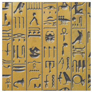 Hieroglyphen im Gold Stoff