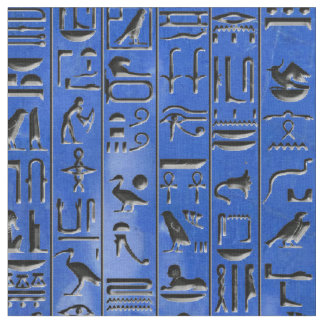 Hieroglyphen im Lapislazuli Stoff