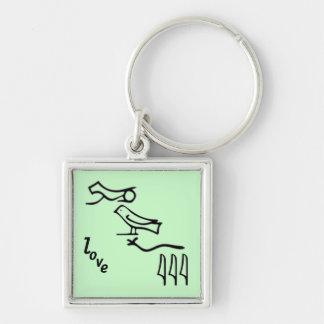 Hieroglyphisches LIEBE keychain für Männer oder Schlüsselanhänger