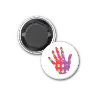 Hifi High5 HighFIVE HANDdes cadeaux gießen tous Runder Magnet 2,5 Cm