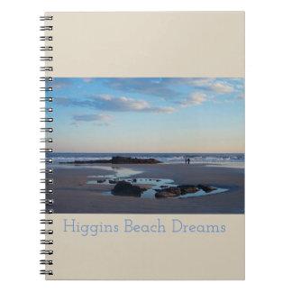 Higgins Strand-Traum-Notizbuch Spiral Notizblock