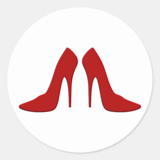 high heels runder aufkleber